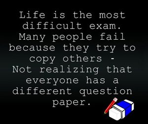quote, exam, and life image
