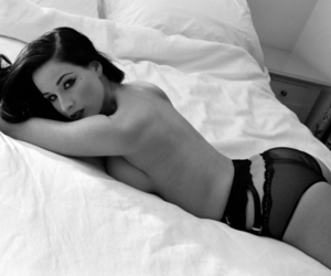 beautiful, naked, and black and white image