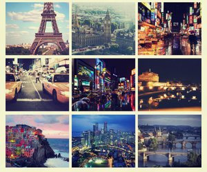 city, paris, and london image