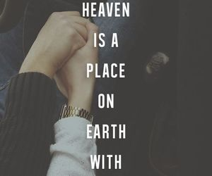 love, heaven, and quote image