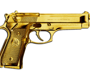 gun, gold, and golden image