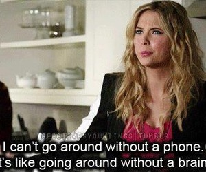 phone, pretty little liars, and pll image