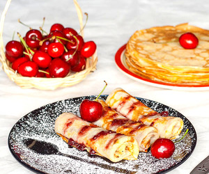crepes, food, and sweets image
