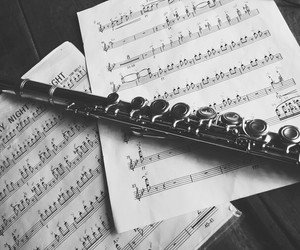 flute, notes, and saturday image