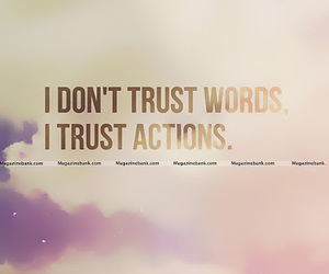 trust, actions, and words image