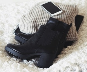 fashion, shoes, and sweater image