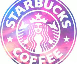 starbucks, galaxy, and pink image