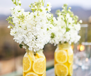 flowers, lemon, and summer image