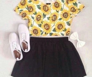 bow, shoes, and skirt image