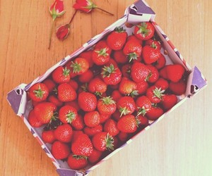 food, meal, and strawberry image