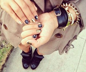 bracelets, fashion, and gold image