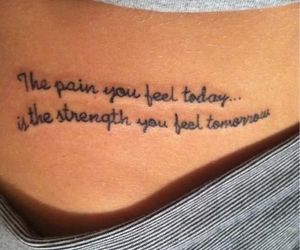 tattoo, quotes, and pain image