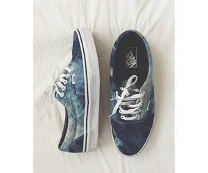 vans, blue, and shoes image
