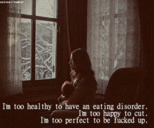 cut, eating disorder, and happy image