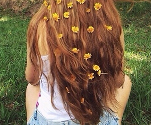 hair, flowers, and hippie image