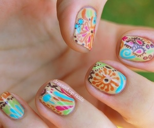 nails, cute, and colorful image