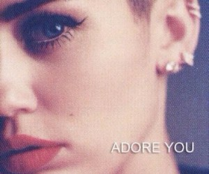 miley cyrus, adore you, and miley image