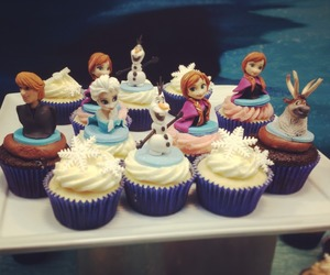 frozen, cupcake, and disney image