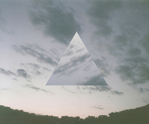triangle, clouds, and sky image