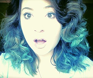 blue, blue eyes, and blue hair image
