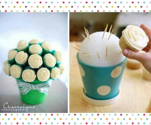 cupcake, flower, and love image