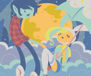 adventure time, marshall lee, and fionna the human image