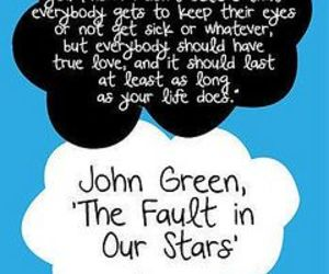 quote, the fault in our stars, and book image
