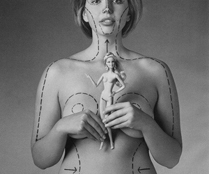 barbie, body, and real image