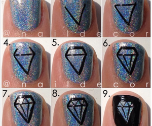 diamond, glitter, and holographic image