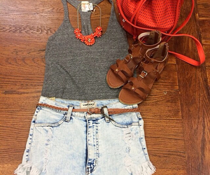 orange, summer, and summer outfit image