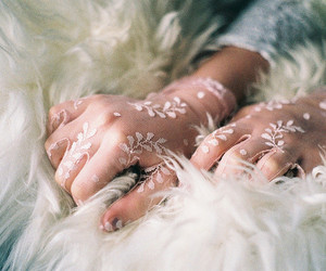 gloves, lace, and hands image