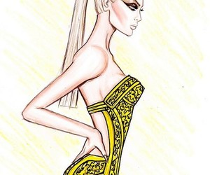 fashion, model, and sketch image