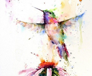 bird, paint, and colorful image