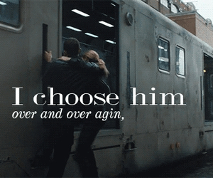 love, divergent, and him image