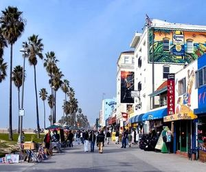 california, beach, and venice image