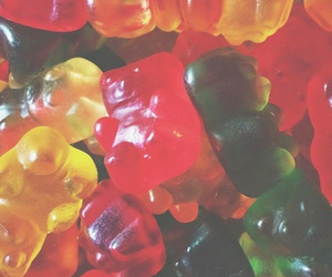 background, food, and gummy bears image