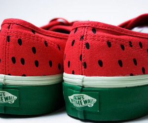 vans, shoes, and watermelon image