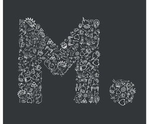 Letter, typography, and type m image