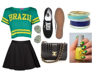 brazil, fashion, and football image