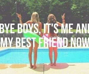 best friends, boy, and summer image