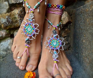 feet, accessories, and summer image