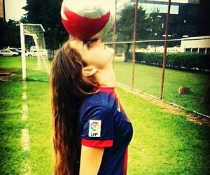 girl, football, and love image