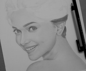 beautiful, pencil, and dimple image