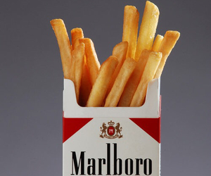 marlboro, cigarette, and food image