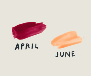 april, june, and spring image