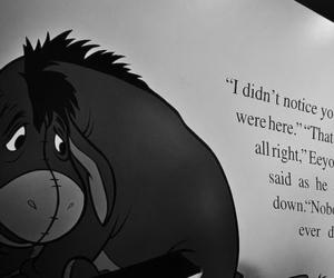 black and white, disney, and sad image