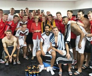 germany, world cup, and angela merkel image