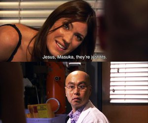 Dexter, debra morgan, and masuka image