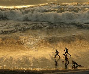 kids, children, and ocean image