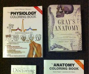 books, medicine, and medical student image